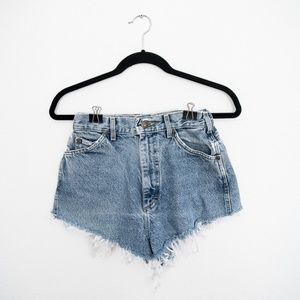 Vintage Lee HIgh Waisted  Cutoff Jeans S 24